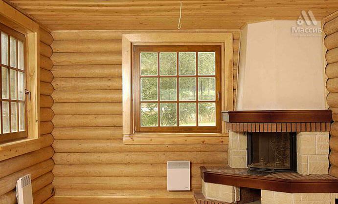 Отделка внутри деревянного дома имитацией бруса